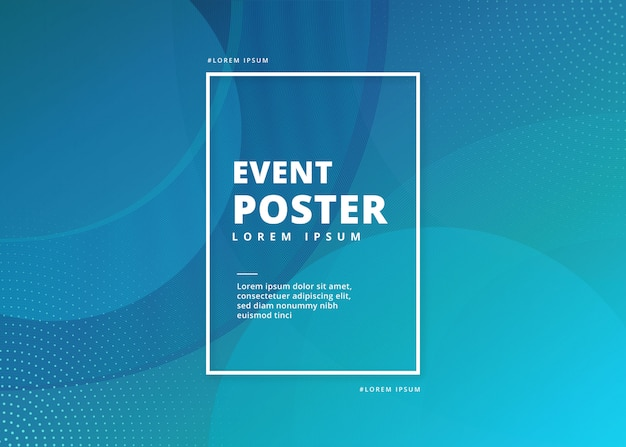 Evenement poster abstract