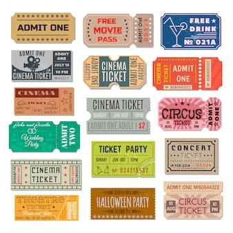 Evenement ticket collectie
