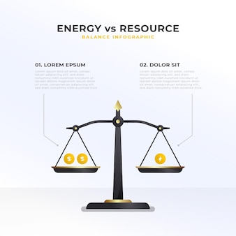 Evenwicht infographics concept