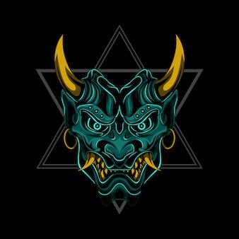 Evil samurai vectorillustratie