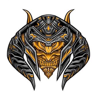 Evil warrior mask vector