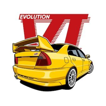 Evolutie van sportwagens Premium Vector