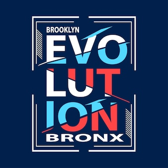 Evolution typografie t-shirt ontwerp