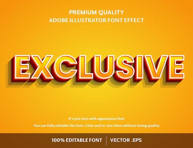 Exclusief 3d eenvoudig bewerkbaar lettertype-effect