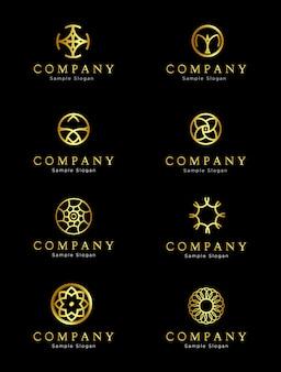 Exclusief golden circle-logo-ontwerp