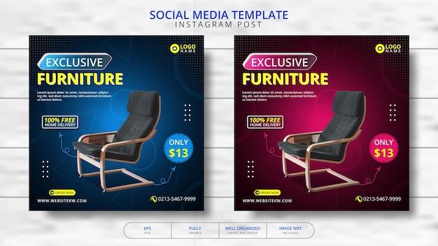Exclusief meubilair social media post template promotie