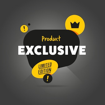 Exclusief product geïsoleerde banner