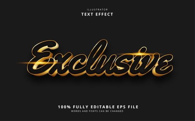 Exclusief teksteffect
