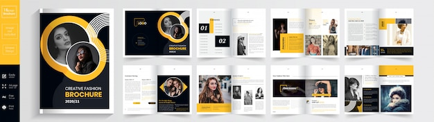 Exclusieve mode brochure template: