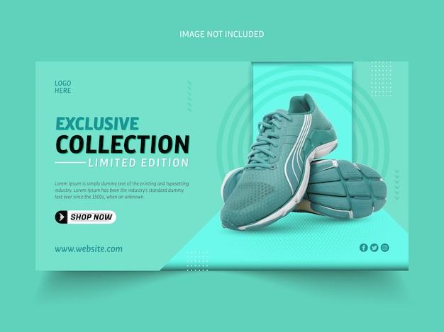 Exclusieve schoenencollectie sjabloon voor spandoek