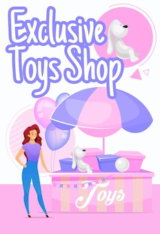 Exclusieve speelgoedwinkel postersjabloon