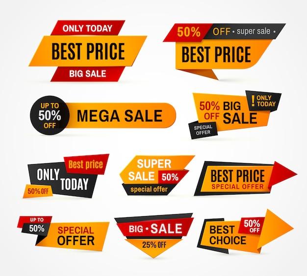 Exclusieve verkoop supermarkt prijs promo tag super mega grote verkoopcampagne