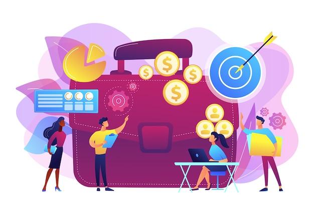 Executive manager planning en monitoring presentatie. projectinitiatie documentatie concept.