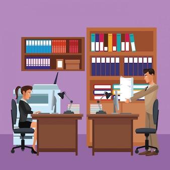 Executive zakelijke collega's