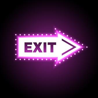 Exit licht uithangbord pijlvormige