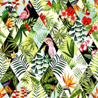 Exotisch naadloos patroon, patchwork