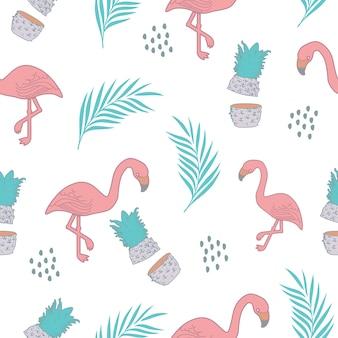 Exotisch patroon als achtergrond met de zomerthema