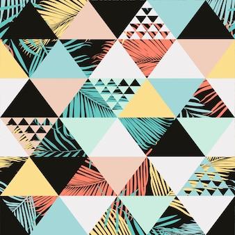 Exotisch strand trendy naadloos patroon