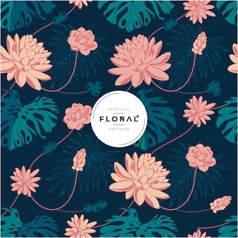 Exotisch tropisch bloemen naadloos patroon