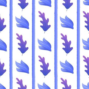 Exotische plant tussen strepen naadloze patroon