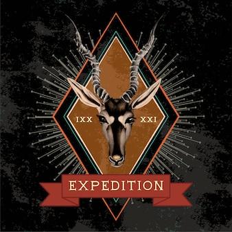 Expeditie reizen logo ontwerp vector