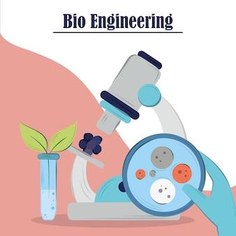 Experiment met biotechnologische apparatuur