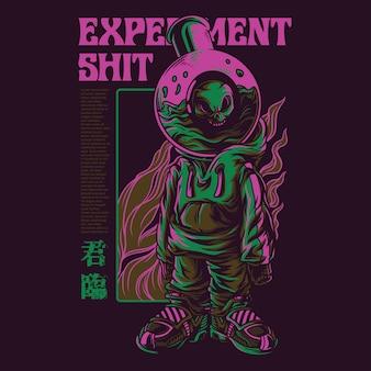 Experiment shit illustratie