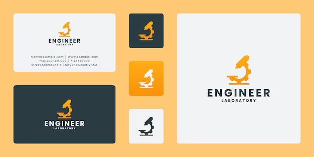 Experimenteer werktuigbouwkundig logo-ontwerp