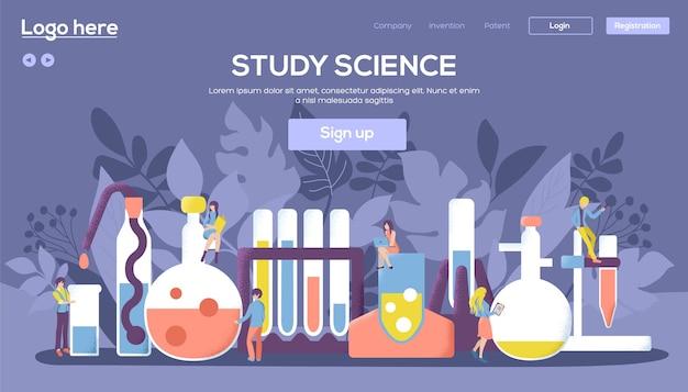 Experimenten in een chemisch laboratoriumconcept