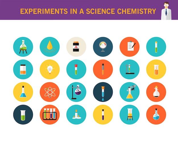 Experimenten in een wetenschappelijk scheikundeconcept