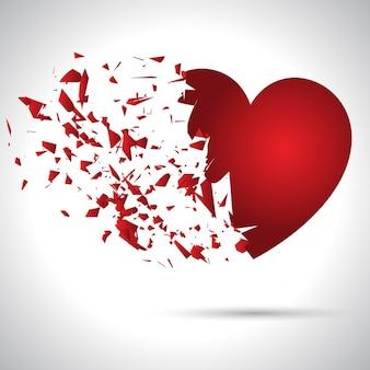 Exploderende hart achtergrond voor valentijnsdag