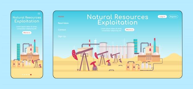 Exploitatie van natuurlijke hulpbronnen