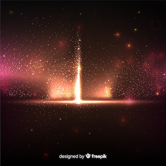 Explosie deeltje effect op zwarte achtergrond