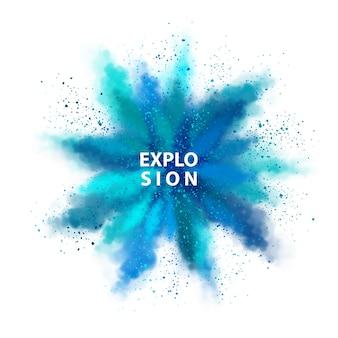 Explosie van gekleurd poeder