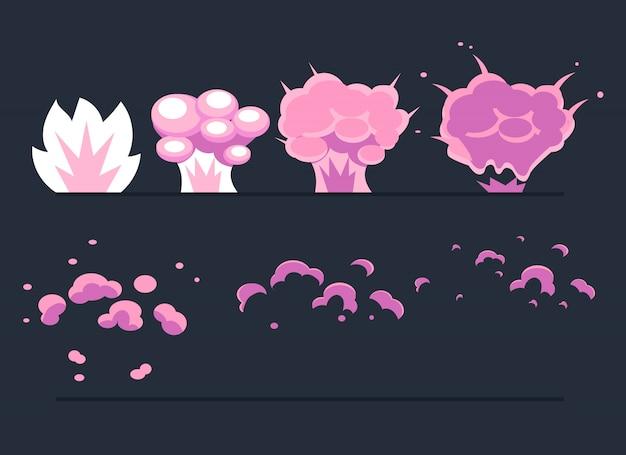 Explosion, cartoon explode effect animatie.
