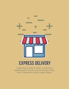 Express-bezorgingsontwerp