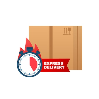 Express levering pictogram voor apps en website. levering concept.