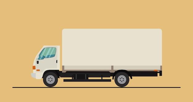 Express levering service vrachtwagen pictogram vectorillustratie