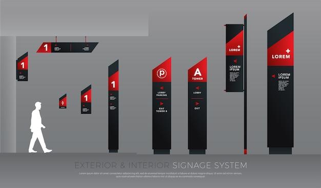 Exterieur en interieur signage concept huisstijl
