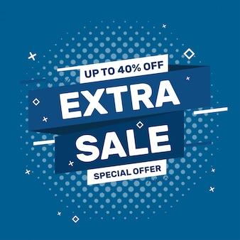 Extra verkoop web blauwe banner