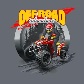 Extreem rode off road quad