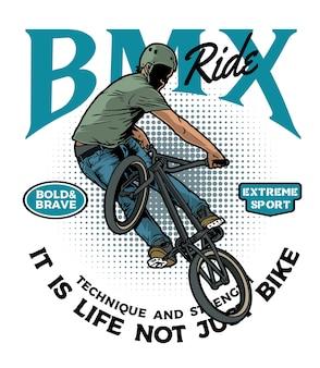 Extreme bmx rijder