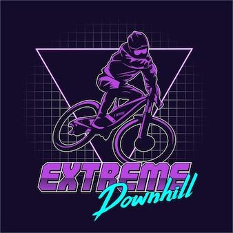 Extreme downhill grafische illustratie