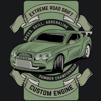 Extreme drift op de weg