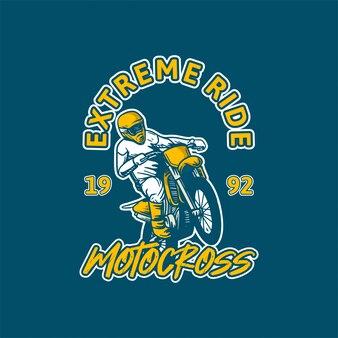 Extreme rit motorcross illustratie