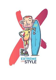 Extreme sport surfen.