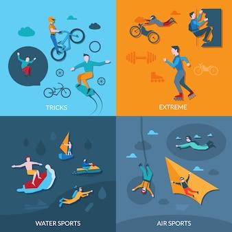 Extreme sporten ingesteld