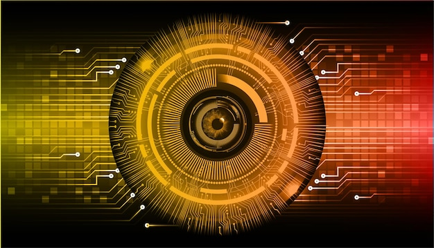 Eye cyber circuit toekomstige technische achtergrond