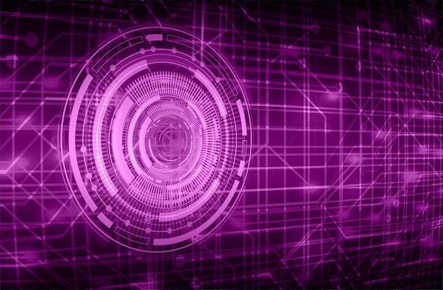 Eye cyber circuit toekomstige technologie concept achtergrond