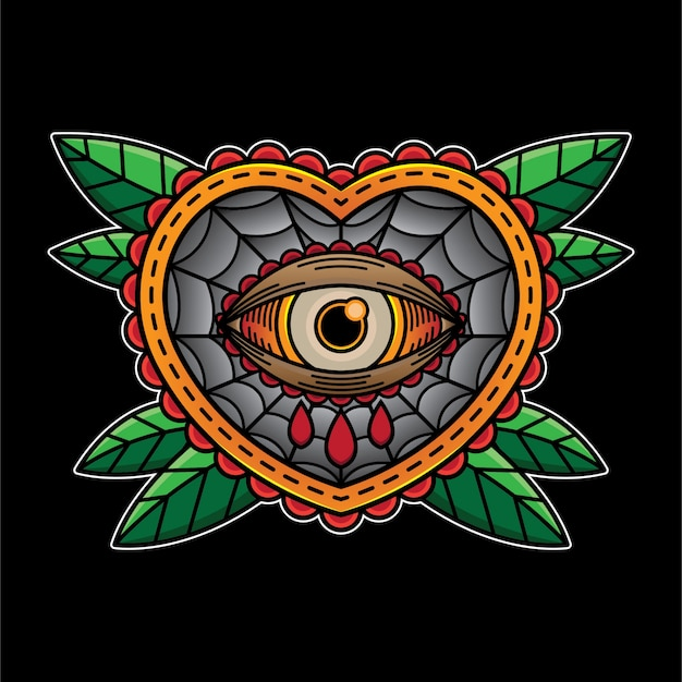 Eye heart cry flash tattoo